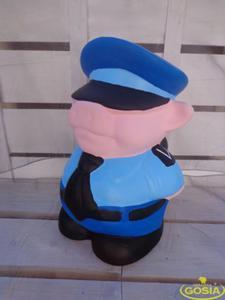 Świnka policjant skarbonka - figurka ceramiczna - 2848162364