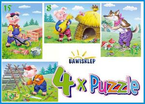 4xPuzzle , Three Little Pigs Castorland S - 2823153847