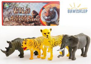 Zwierzęta dzikie figurki o długości 13-16cm - 4szt - 2841552346