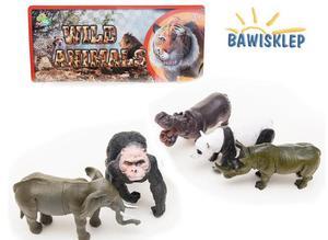 Zwierzęta dzikie figurki - długość ok 15cm - 5 szt - 2841552347