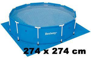 Podkładka 274x274 cm / pod BASEN 244cm / Bestway - 2823153427