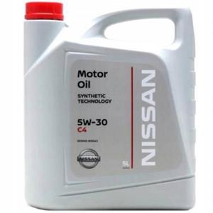 Oryginalny olej Nissan Motor Oil 5W30 C4 DPF 5L - 2855987645