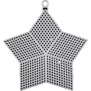Kanwa plastikowa biała mleczna - gwiazda 14cm - 2846385004