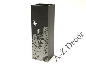 Kwadratowy wazon z drewna PRADO z nadrukiem 41cm [002878] - 2866221902