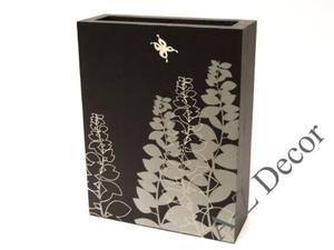Czarny prostokątny wazon drewniany PRADO 33cm [002962] - 2866221904