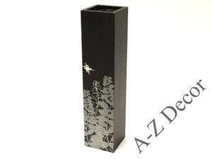 Czarny kwadratowy wazon drewniany PRADO 38cm [002875] - 2866221905