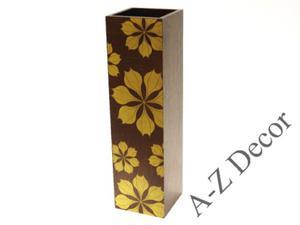 Kwadratowy wazon z drewna ESTRELLA 46cm [002815] - 2866221910