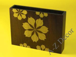 Wazon drewniany ESTRELLA z poinsecją 30cm [002961] - 2866221916