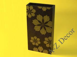 Wazon drewniany ESTRELLA z kwiatami poinsecji 36cm [002813] - 2866221917
