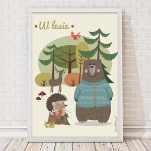 Plakat W lesie - 2853826260