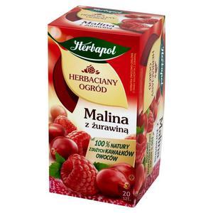 Herbata eksp. HERBAPOL Ogród - malina żuraw. op.20 - 2847291215