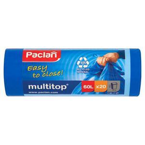 Worki na śmieci PACLAN Multitop 60l. niebieskie - 2847291594