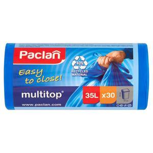 Worki na śmieci PACLAN Multitop 35l. niebieskie - 2847291595