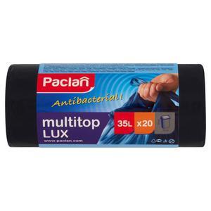Worki na śmieci PACLAN Multitop Lux 35l. czarne - 2847291613