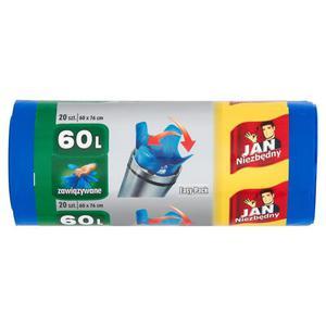 Worki Jan Niezbędny Easy Pack zawiąz. 60l. niebie - 2847291618
