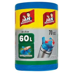 Worki Jan Niezbędny Easy Pack zawiąz. 60l.70szt. - 2847291620