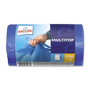 Worki na śmieci PACLAN Multitop 120l. niebieskie - 2847291625