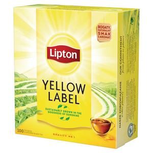 Herbata eksp. LIPTON Yellow Label op.100tor. - 2847291853