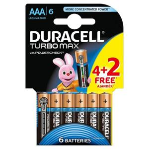 Bateria DURACELL Turbo AAA LR3 op.4 + 2 free - 2847292184