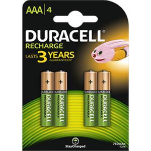 Akumulatorki DURACELL AAA 800/850mAh op.4 - 2847292185