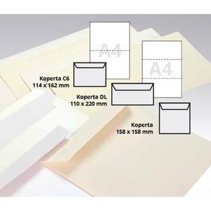 Koperty ozdobne ARGO 158x158mm 100g. - biała - 2847292976