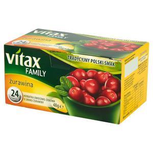 Herbata eksp. VITAX Family - Żurawina op.20 - 2847292991