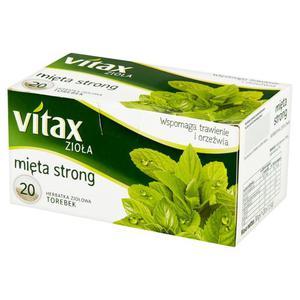 Herbata eksp. VITAX - Mięta Strong op.20 - 2847293003