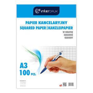 Papier kancelaryjny INTERDRUK A3 op.100ark. kratka - 2825402381