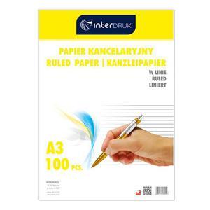 Papier kancelaryjny INTERDRUK A3 op.100ark. linia - 2825402382