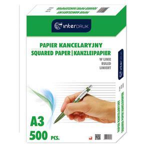 Papier kancelaryjny INTERDRUK A3 op.500ark. linia - 2825402383