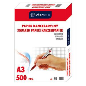 Papier kancelaryjny INTERDRUK A3 op.500ark. kratka - 2825402384