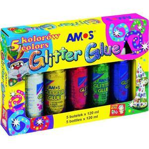 Klej brokatowy AMOS 120ml. 5 kolorów - 2847293462