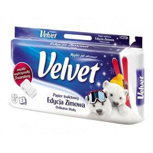 Papier toaletowy VELVET - biały op.8szt - 2847293659
