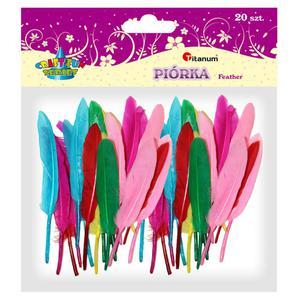 Piórka TITANUM op.20 - mix 6 kolorów 282626 - 2847293750