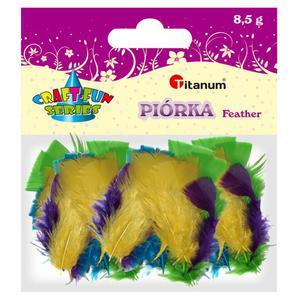 Piórka TITANUM - mix 4 kolory 282677 - 2847293751