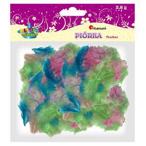 Piórka TITANUM - mix 4 kolory 282753 - 2847293764