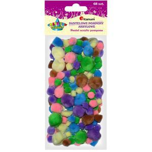 Pompony TITANUM pastelowe mix op.68 282918 - 2847293781