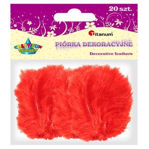 Piórka TITANUM op.20 - czerwone 283020 - 2847293819