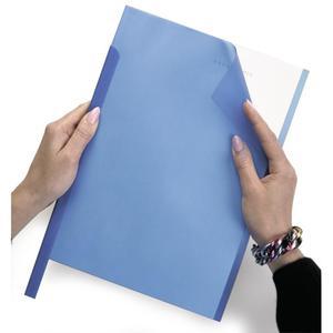 Okładki DURABLE do grzbietów zacisk. - niebieskie - 2847294498