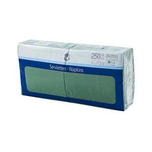 Serwetki H-LINE 33 x 33 op.250 - zielone - 2847295543