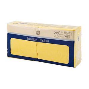 Serwetki H-LINE 33 x 33 op.250 - żółte - 2847295546