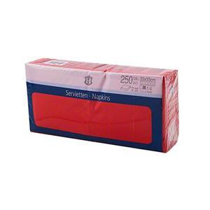 Serwetki H-LINE 33 x 33 op.250 - czerwone - 2847295547