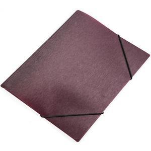 Teczka z gumką A5 PANTA PLAST simple - bordo - 2847295990