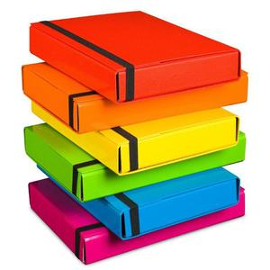 Teczka szeroka VAUPE BOX 341 5cm z gumką - różowy - 2847296132