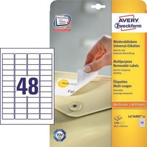 Etykiety AVERY ZWECKFORM 45,7x21,2 (48) L4736 - 2847296466