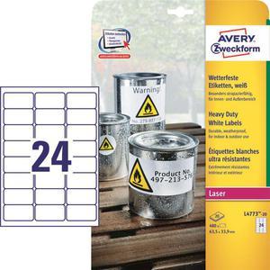 Etykiety AVERY ZWECKFORM HD 63,5x33,9 L4773-20 - 2847296517