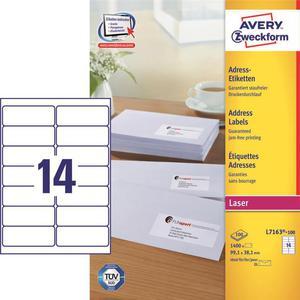 Etykiety AVERY ZWECKFORM adres 99,1x38,1 L7163 - 2847296525