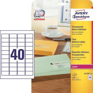 Etykiety AVERY ZWECKFORM bezb. 45,7x25,4 L4770 - 2847296527