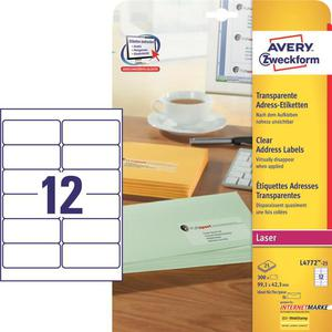 Etykiety AVERY ZWECKFORM bezb. 99,1x42,3 L4772 - 2847296535