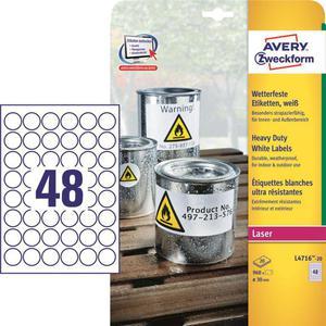 Etykiety AVERY ZWECKFORM HD fi30 L4716-20 - 2847296539